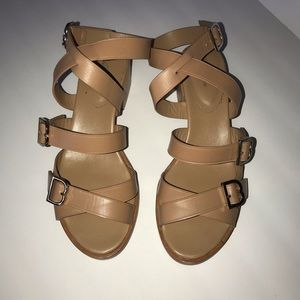 Brooks Brothers Tan Leather Sandals Women's Sz 9
